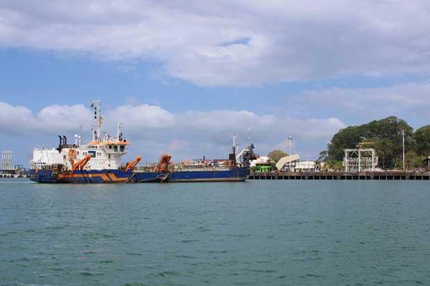 Muelle de Moín recuperó calado necesario para atraque de barcos