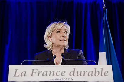 Izquierda francesa evalúa frente unido para enfrentar a Le Pen