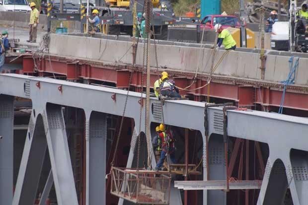 Obras en un carril del puente Alfredo González tienen avance del 80%