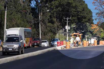 Trabajos de asfalto en sector Pozuelo se trasladaron para hoy y mañana