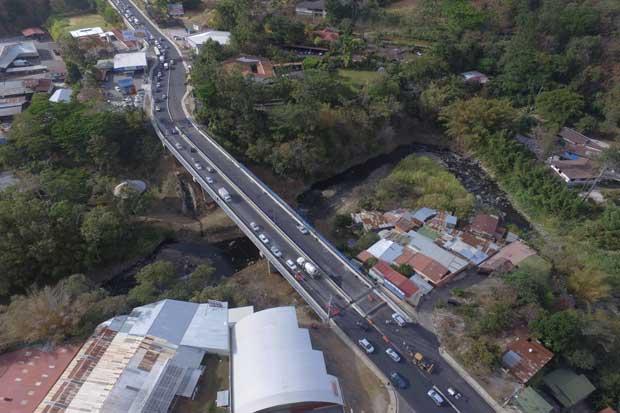 Habilitan nuevo puente Yolanda Oreamuno entre Heredia y San José