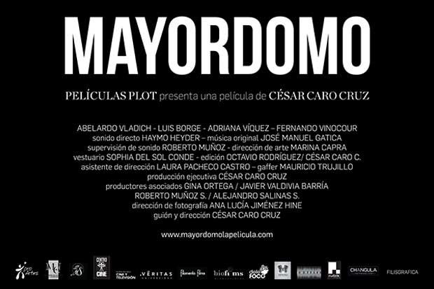 """Película """"Mayordomo"""" se estrenará el 16 de marzo"""