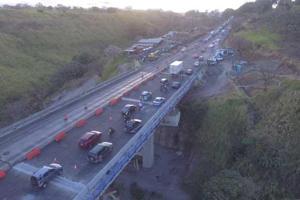 Paso de tres carriles en puente Alfredo González ya está habilitado