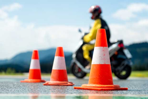 Un 30% de los motociclistas perdió la prueba práctica en 2016