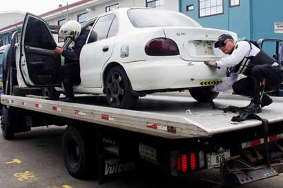 Infractores pagaron ¢215 millones por acarreo y custodia de vehículos decomisados
