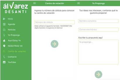 Álvarez Desanti lanzó aplicación para llevar votantes a urnas