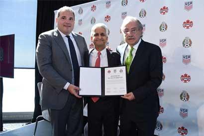 Norteamérica presenta candidatura conjunta para Mundial 2026