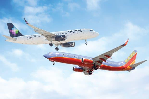 Southwest objeta vuelos de Volaris a EE.UU.