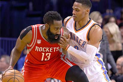 Harden amenaza el MVP de Westbrook