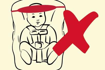 Dispositivos para retener cabeza de niños en vehículos no son avalados
