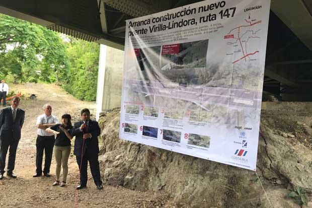 Construcción de nuevo puente entre Santa Ana y Belén dio inicio