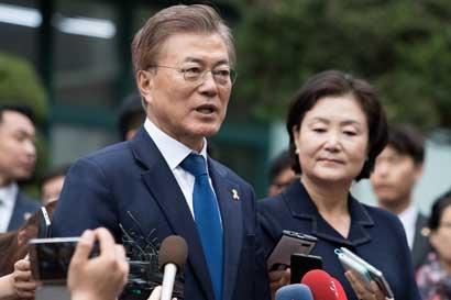 Moon se encamina a ganar la presidencia de Corea del Sur