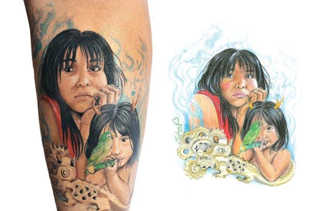Diseño precolombino inspira a tatuadores nacionales