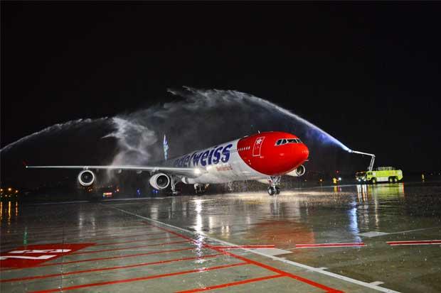 Edelweiss inauguró vuelo directo hacia Suiza