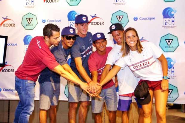 Listo equipo que representará a Costa Rica en Mundial de Surf