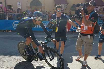 Andrey Amador sube a sexto puesto en Giro de Italia