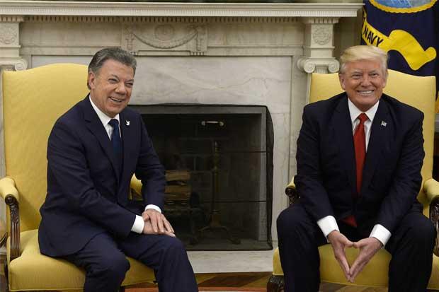 Trump y Santos acuerdan luchar juntos contra las drogas