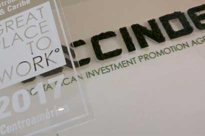 Cinde, única agencia de promoción de inversiones certificada por Great Place to Work