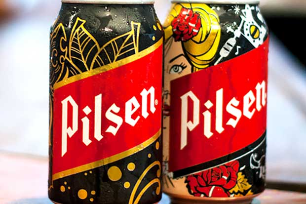 """Pilsen lanzó edición limitada de """"latas tatuadas"""""""