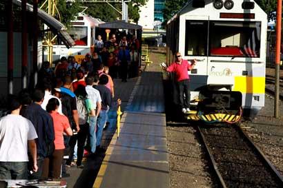 Servicio de tren tendrá nuevos horarios y tarifas