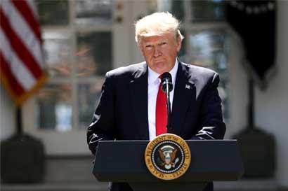 Trump retira a Estados Unidos de Acuerdo de París