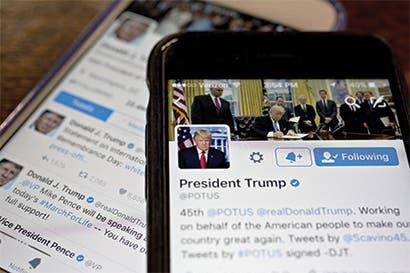 Allegados a Trump le advierten que es hora de parar los tuits