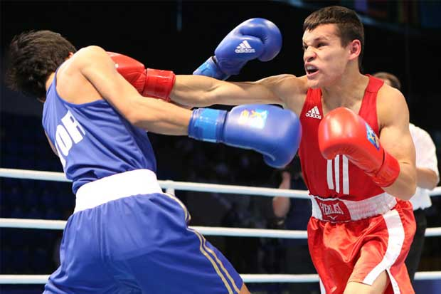"""Medallita"" Jiménez clasifica a su tercer mundial de boxeo"