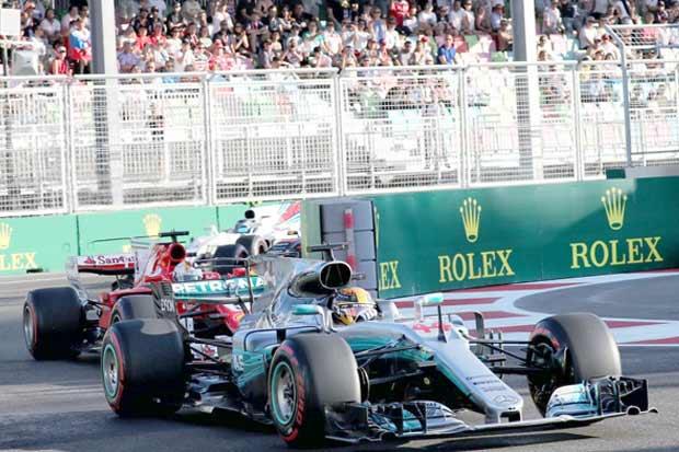 Hamilton calentó, y no su motor