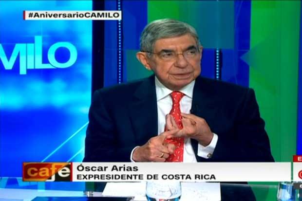 Óscar Arias arremetió contra Trump en CNN