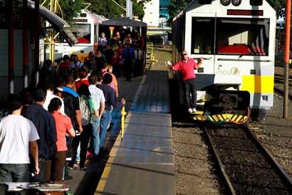 Servicio de tren entre Belén y San José está cancelado