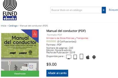 Manual para prueba teórica de manejo estará disponible en línea