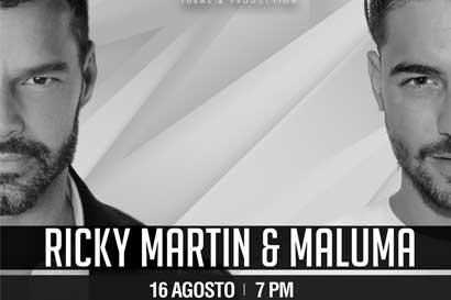 Ya están a la venta entradas para Ricky Martin y Maluma