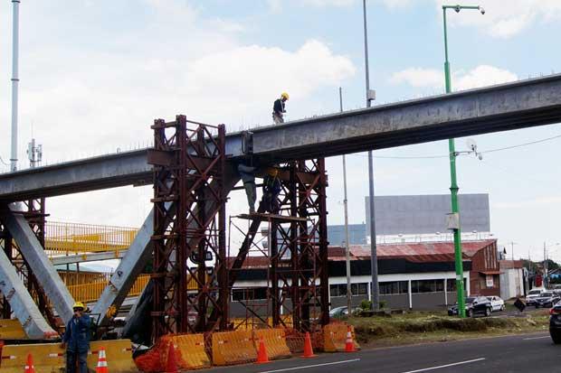 Puente peatonal en la Galera estará listo en agosto
