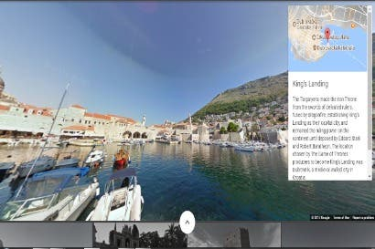 Street View permite recorrer lugares donde se grabó Game of Thrones