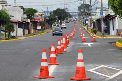Cambios viales en Tibás aplicarían hasta la próxima semana