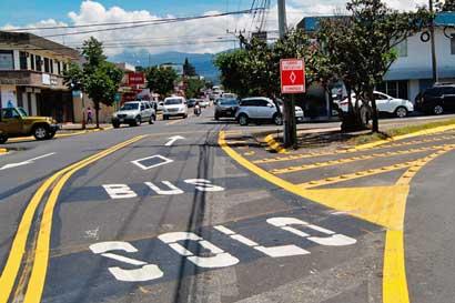 Este sábado aplicarán carriles exclusivos para buses en Tibás