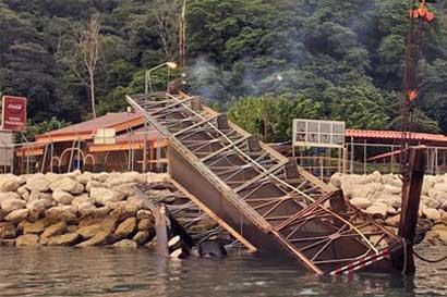 Reparación de rampa del ferry en Paquera duraría tres semanas