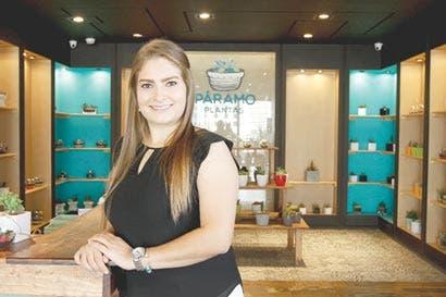 Emprendedora crea boutique de plantas suculentas