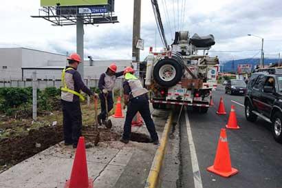 San Isidro de Heredia estará sin agua y sin el jueves