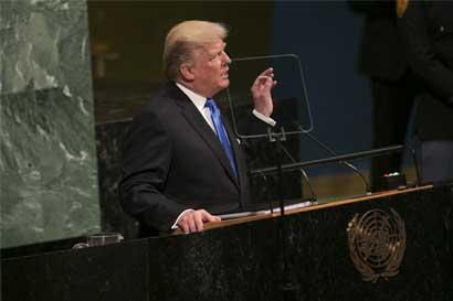 """Trump amenaza con """"destrucción"""" de Corea del Norte en su discurso ante la ONU"""