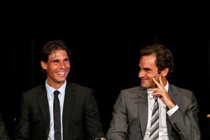 Federer y Nadal jugarán juntos por primera vez