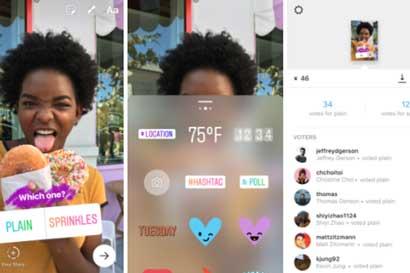 """Instagram incorporó opción de """"encuesta"""" a sus historias"""
