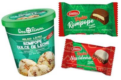 Dos Pinos lanzó helado y chocolates con rompope