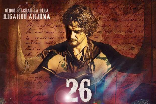 Arjona ofrecerá concierto en Costa Rica el 26 de enero