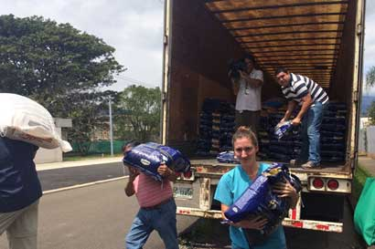 Empresa donó 24 toneladas de alimento para animales