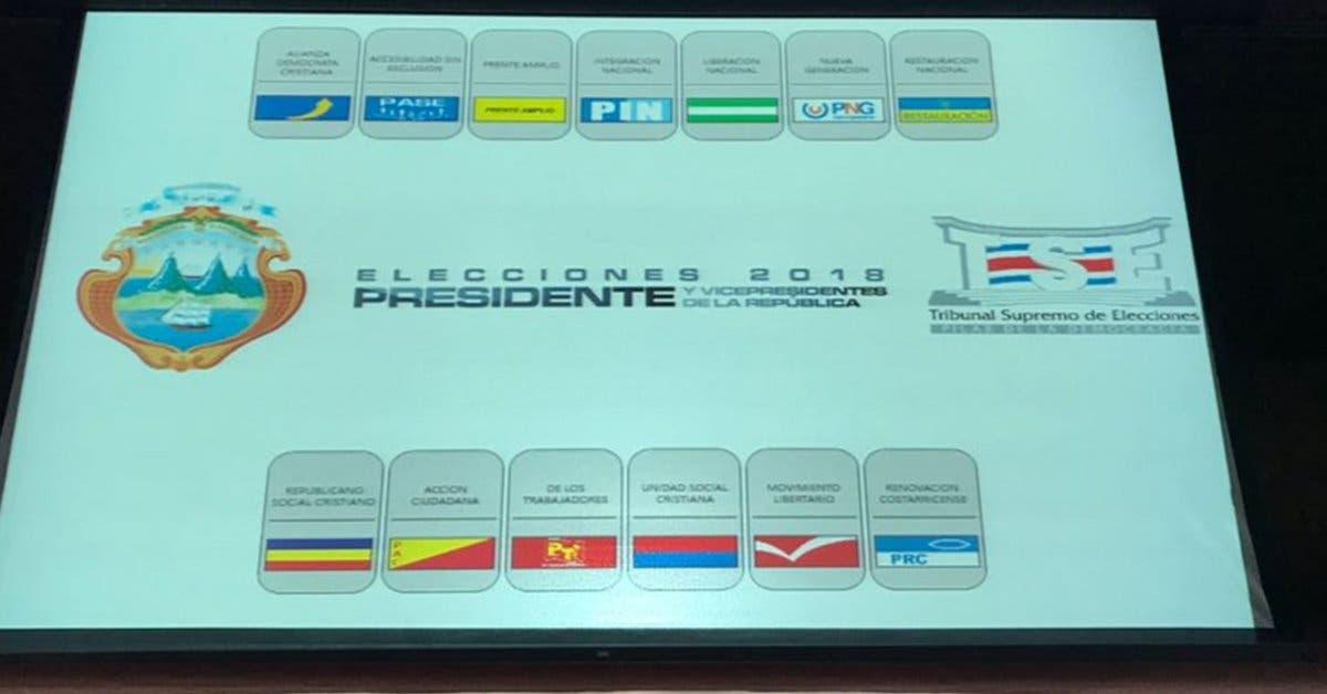 Conozca el orden en que aparecerán los candidatos en la papeleta presidencial