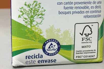Dos Pinos es pionera en la región al emplear envases con sello sostenible