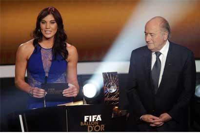 Hope Solo denunció a Joseph Blatter de acoso sexual