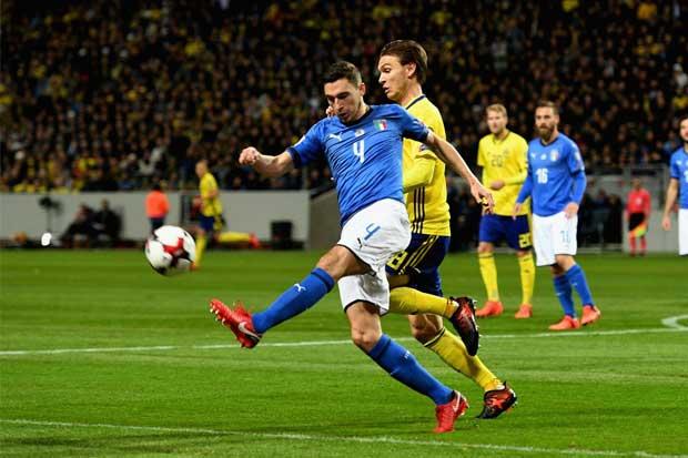 Suecia se lleva la ida del repechaje ante Italia