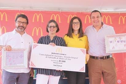 McDonald's donó $1.500 a Cen-Cinai de Sabanilla